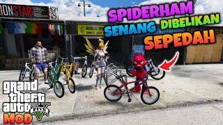 SPIDERHAM SENANG BANGET DIBELIKAN SEPEDAH SAMA FANNY - GTA 5 MOD SPIDERMAN