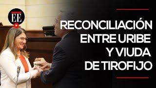 El acto de reconciliación entre Uribe y la viuda de