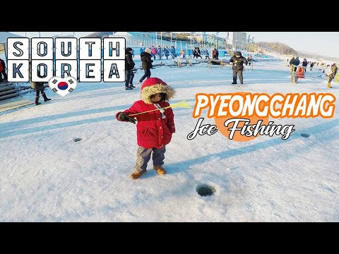 Ice Fishing Festival In South Korea - PyeongChang Trout Festival