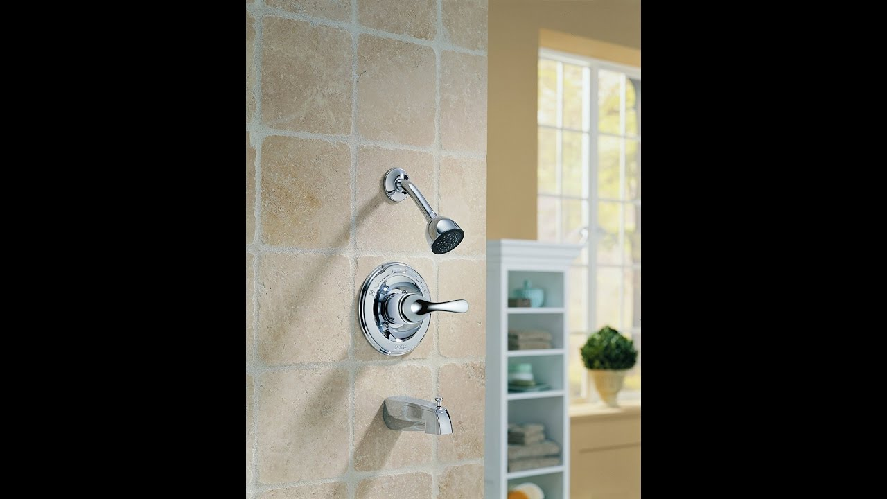 Delta Faucet T13420 DPE Classic, MonitorR 13 Series Tub and Shower ...