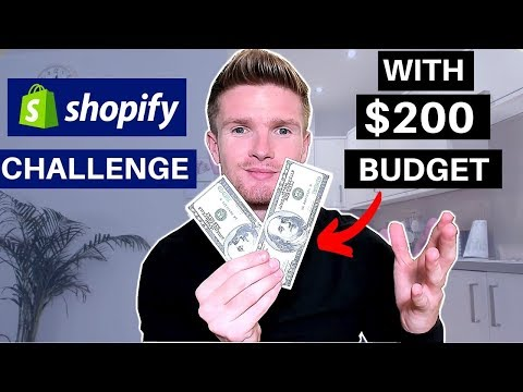 (Day1) SHOPIFY CHALLENGE ON $200 BUDGET! NEW STORE FROM SCRATCH TO $1000   SHOPIFY DROPSHIPPING 2019 thumbnail