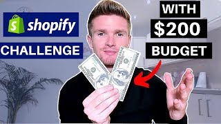 (Day1) SHOPIFY CHALLENGE ON $200 BUDGET! NEW STORE FROM SCRATCH TO $1000 | SHOPIFY DROPSHIPPING 2019