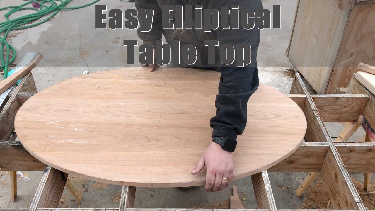 How To Cut Easy Diy Elliptical Table Tops Youtube