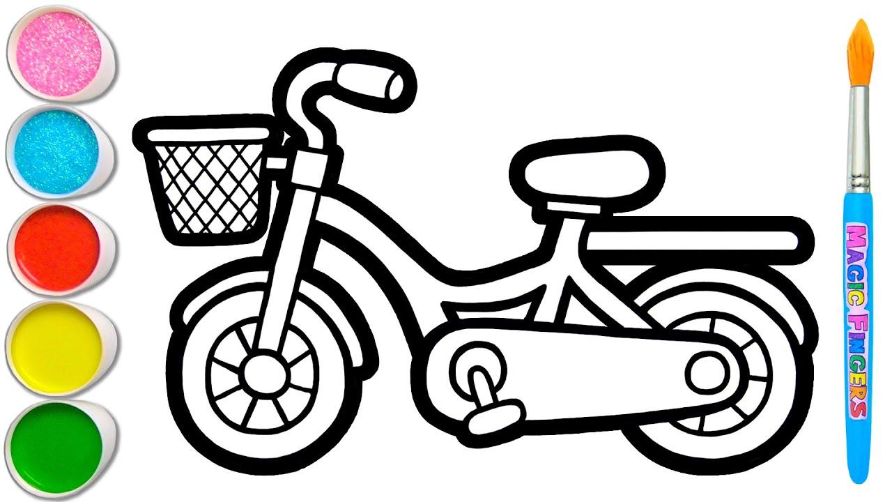 Download Mari Belajar Bagaimana Menggambar & Melukis Sepeda   Menggambar dan Mewarnai untuk Anak, Balita #110