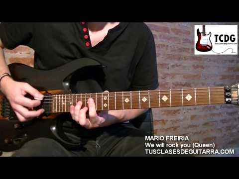 WE WILL ROCK YOU (QUEEN) GREAT GUITAR COVER / LEARN HOW TO PLAY GUITAR: CHORDS TABS TUTORIAL TCDG