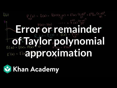 Taylor polynomial remainder (part 1) | Series | AP Calculus