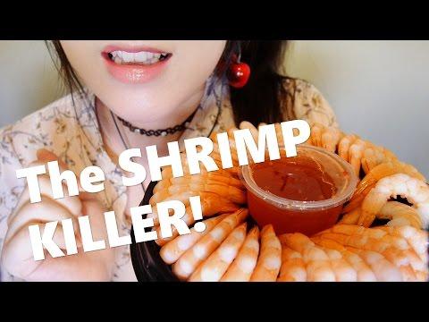 ASMR Eating Shrimp Ring 🦐쉬림프링 이팅 리얼사운드