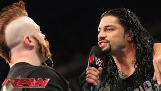 Roman Reigns demands a rematch with Sheamus: Raw, November 23, 2015