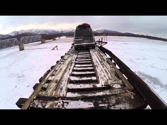 Мост через Витим. 500 метров адреналина.Dangerous roads