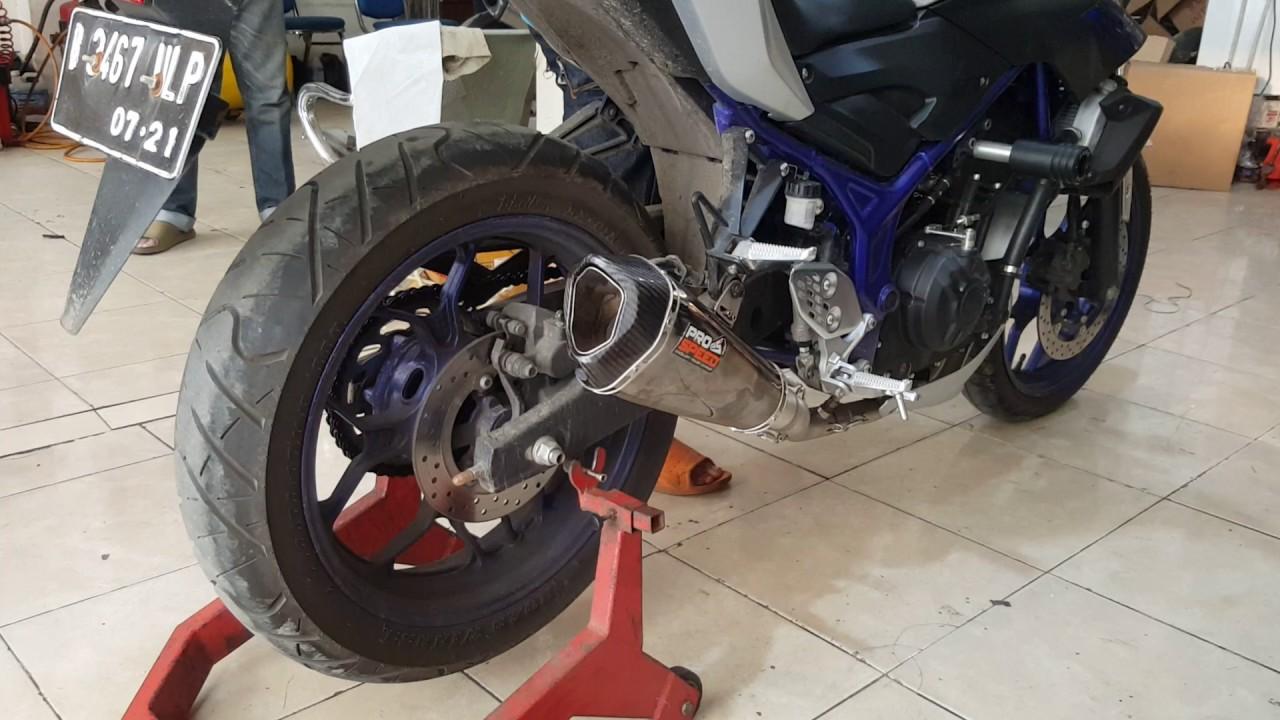 Knalpot Pro Speed Shark Black Yamaha Mt25 Xtreme Motor Sport By Prospeed Series Nmax 150 Fullsystem