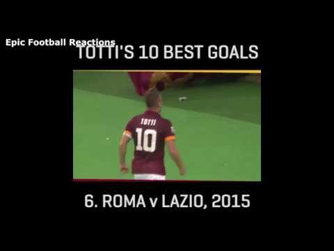 Francesco Totti Top 10 Goals - Remembering The Legend - 2017