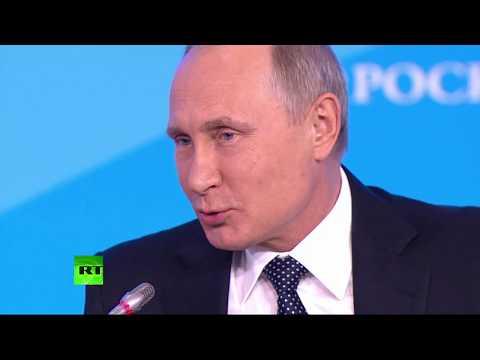 Путин принимает участие в пленарном заседании форума «Российская энергетическая неделя»