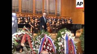 RUSSIA MOSCOW FUNERAL OF COMPOSER ALFRED SCHNITTKE