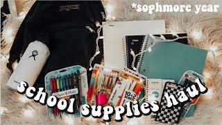 SCHOOL SUPPLIES HAUL 2019 | Sophmore Year