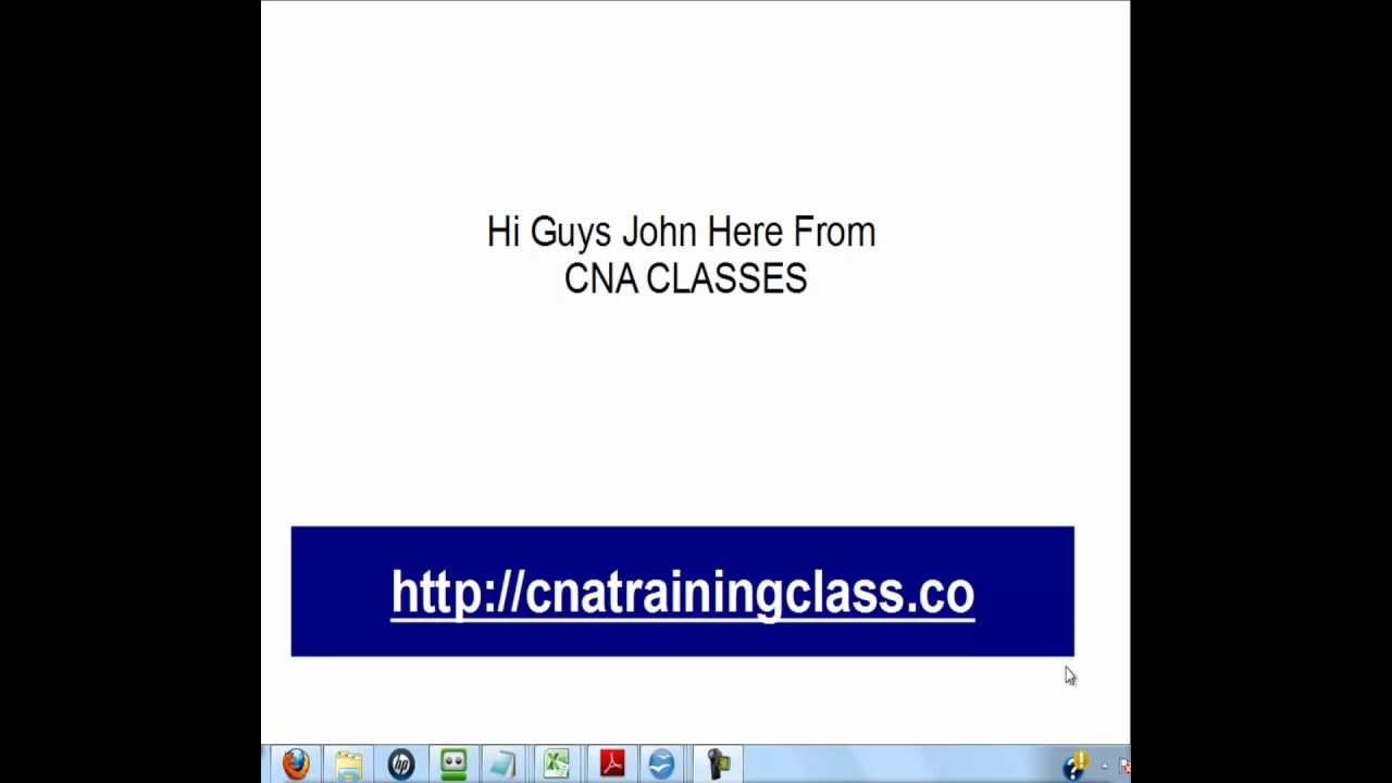 Cna Classes Basic Nursing Cna Class Training Youtube