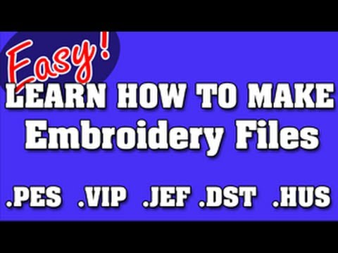 Never Pay For Embroidery Files Again How To Digitize Logos