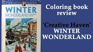 Perfect winter coloring book -  'Winter Wonderland' Creative Haven
