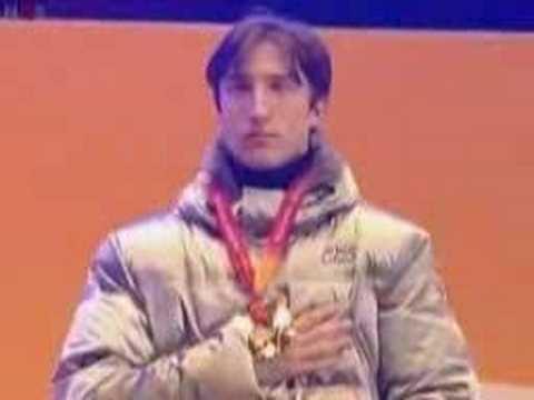 enrico fabris victory ceremony torino 2006