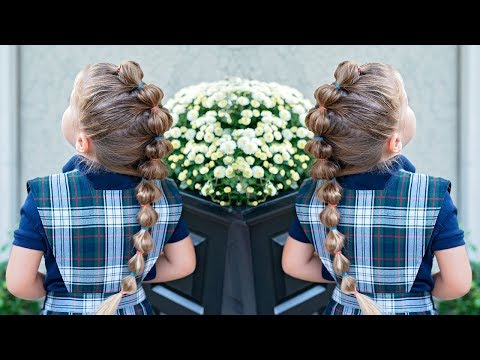BUBBLE BRAID - LITTLE GIRL TODDLER HAIRSTYLE 2018 thumbnail