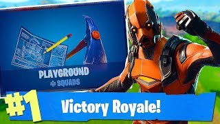 Fortnite-MODE PLAYGROUND - NEW SKINS TOMORROW?!? NOUVELLE ARME ! -Sols et escouades