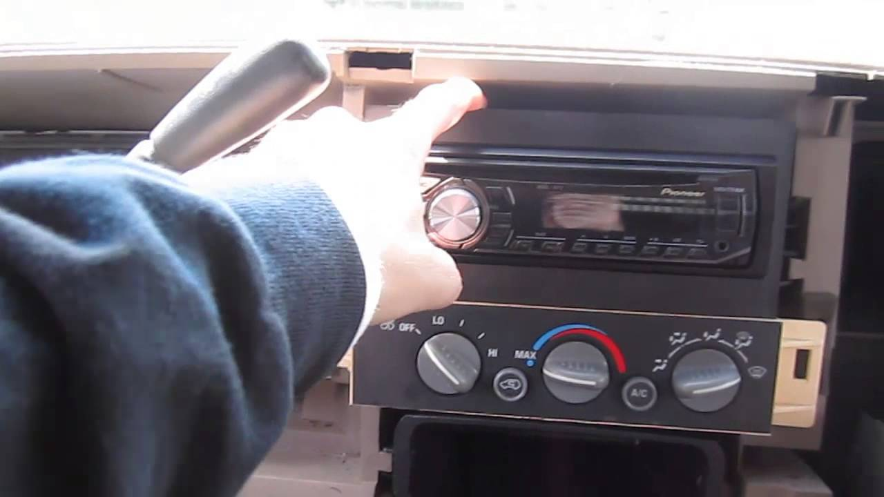how to install remove an aftermarket radio in a 95 98 99 classic chevy c k pickup gmc sierra youtube [ 1280 x 720 Pixel ]