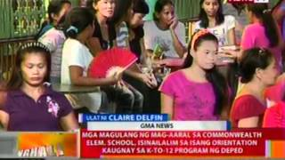 BT: Out-of-school adults, balik-eskwela ngayong araw sa Commonwealth Elem. School