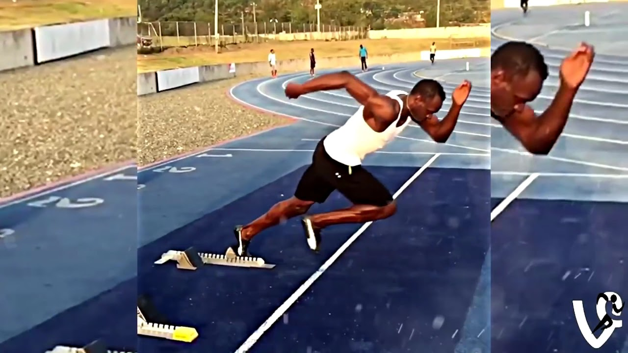 Usain Bolt Starting Blocks