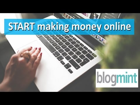 Earn Money Online with BlogMint - Live tutorial in Hindi.