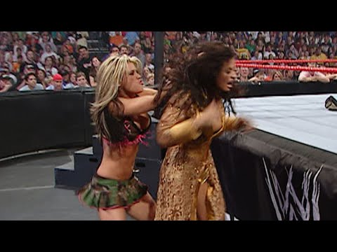 Trish Stratus & Ashley Massaro Vs. Torrie Wilson & Victoria: WWE Unforgiven 2005