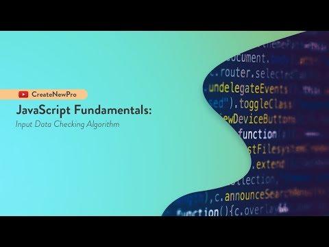 JavaScript Tutorial for Beginners: Input Data Checker Algorithm | Learn JavaScript thumbnail
