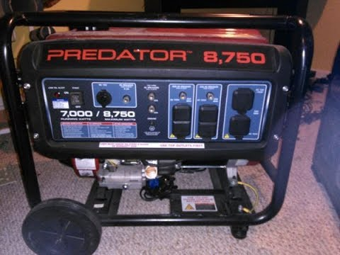 Harbor freight Predator 8750 Generator Review and demonstration