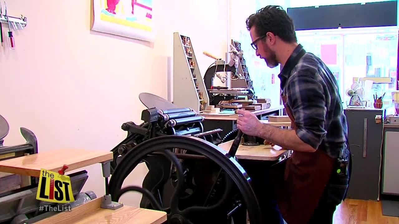 Cincinnatis old school print shop youtube cincinnatis old school print shop malvernweather Image collections