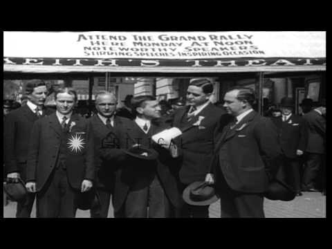 Secretary of War Newton D. Baker promotes the war bonds in the United States duri...HD Stock Footage