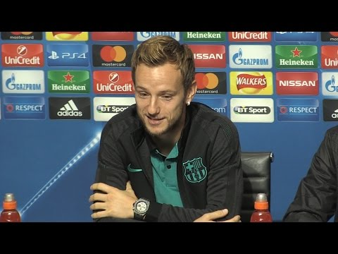 Ivan Rakitic Full Pre-Match Press Conference - Manchester City v Barcelona - Champions League