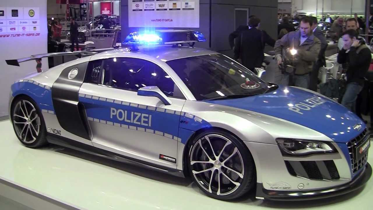 Fast Police Car Audi R8 Gt R By Abt Youtube