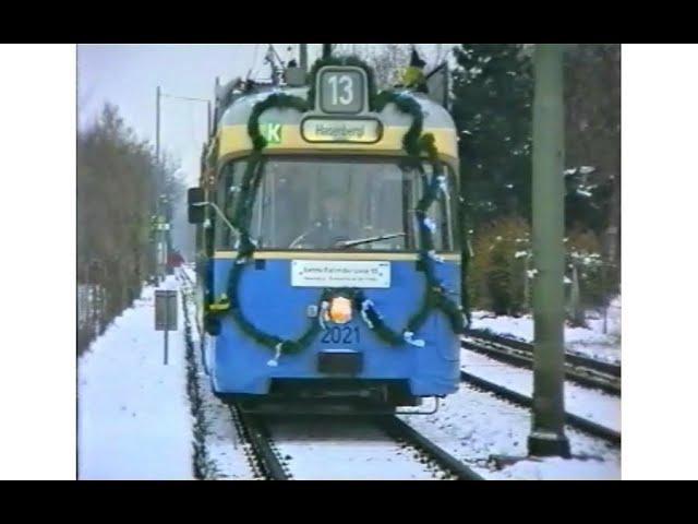 Letzter Betriebstag der Linie 12 und 13 am 20.11.1993
