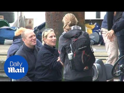 Zara Phillips and Mike Tindall look loved up in Cowes - Daily Mail
