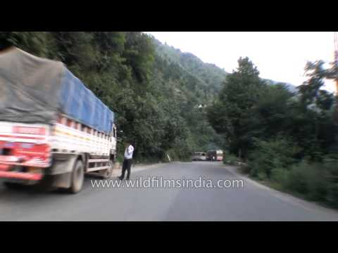 Driving From Banihal To Ramban In Kashmir - Part 1