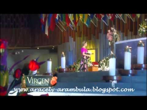 """Aracely Arámbula le canta """"Mi Lupita"""" a la Virgen de Guadalupe"""