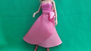 Урок кройки и шитья юбки на запах для Барби. Мастер-класс.
