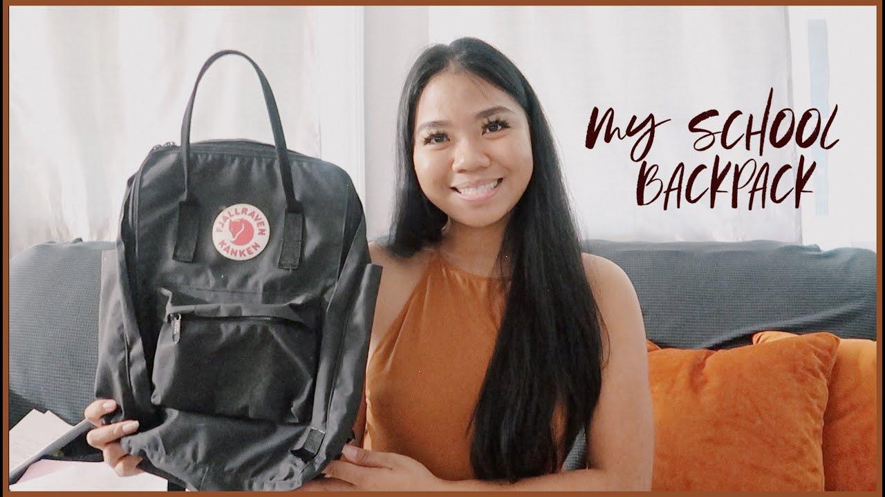 WHAT'S IN MY COLLEGE BACKPACK | fjallraven kanken backpack