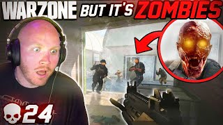 WARZONE BUT IT'S ZOMBIES! 24 KILLS IN SOLOS!