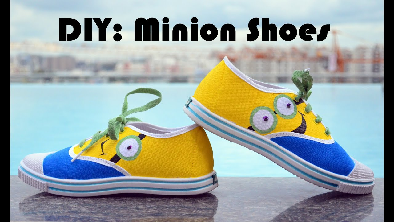 DIY Minion shoes - YouTube
