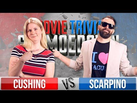 Rachel Cushing VS Nick Scarpino - Movie Trivia Schmoedown