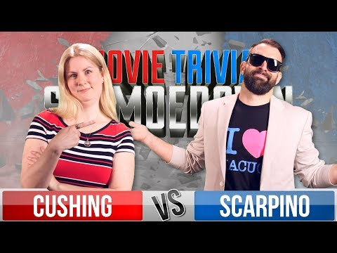 Rachel Cushing VS Nick Scarpino  Movie Trivia Schmoedown
