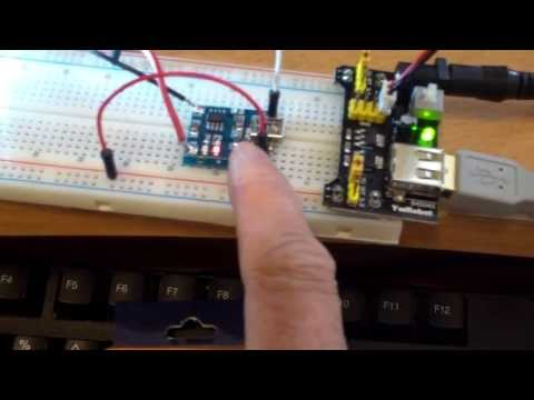 MB102 breadboard with USB power supply and diy lithium battery charger