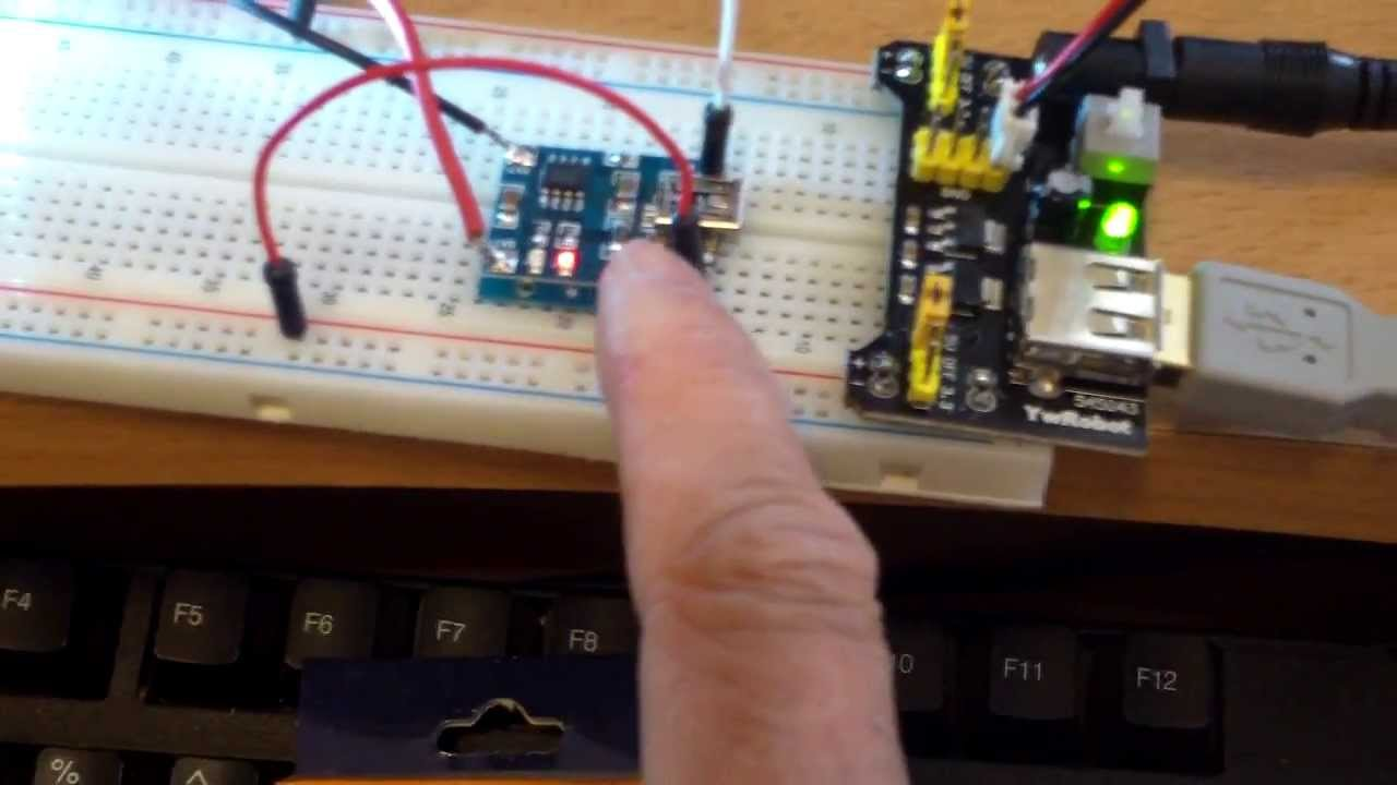Mb102 Breadboard With Usb Power Supply And Diy Lithium Battery White Glue On Circuit Board Electrical Engineering Charger Youtube