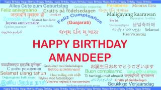 Amandeep   Languages Idiomas - Happy Birthday
