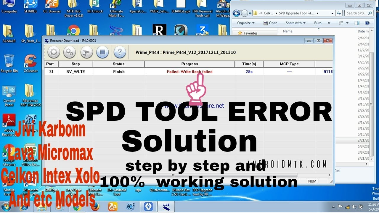 SPD Flash tool error solution 100%working