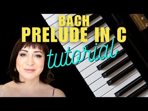 Bach C Major Prelude Easy Piano Tutorial